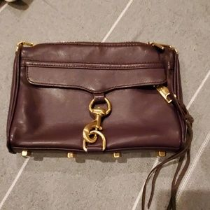 Rebecca Minkoff MAC mini burgundy crossbody bag